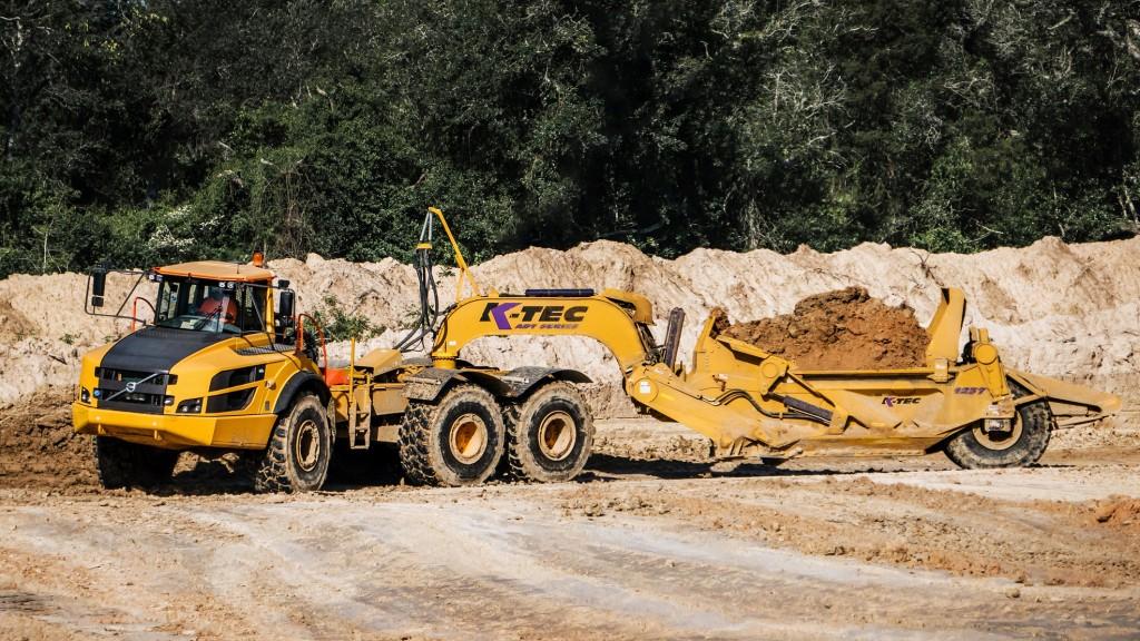 A K-Tec scraper on the job site