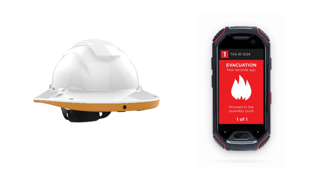Connected Worker sends out an alert to a TA1 wearable tag