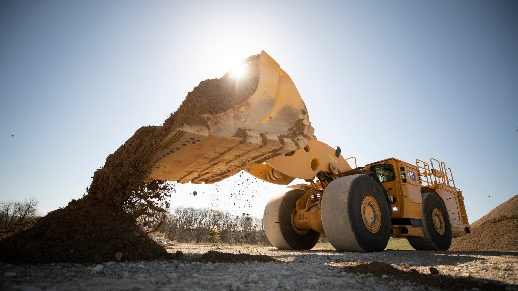 A Cat electric wheel loader on the job site