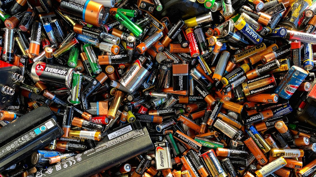 End of life batteries in a pile