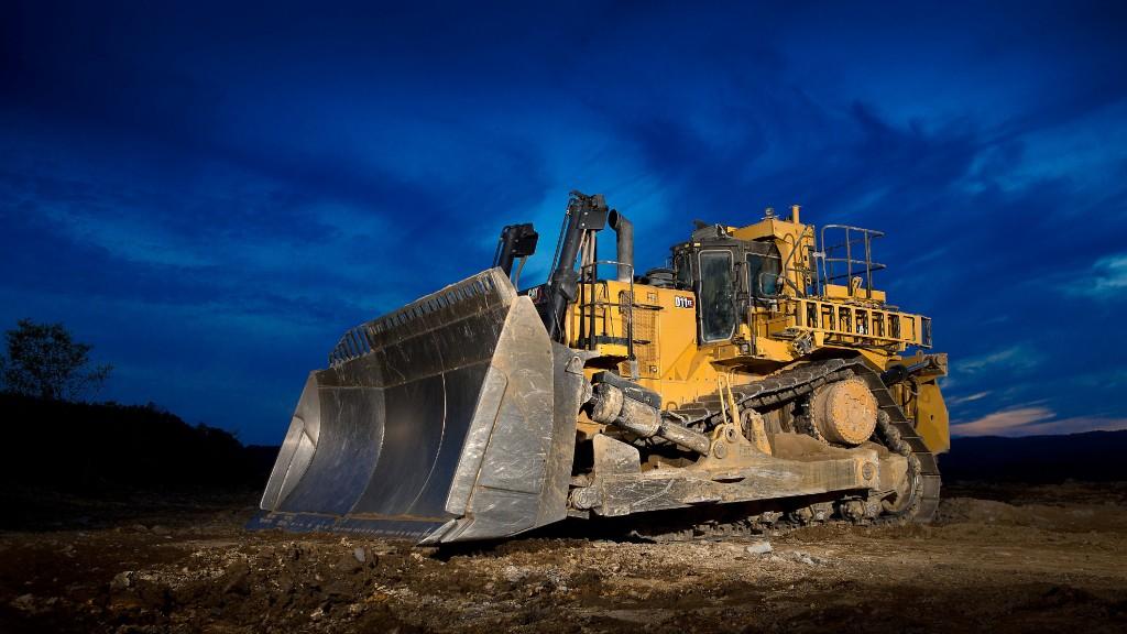A D11 XE dozer on the job site