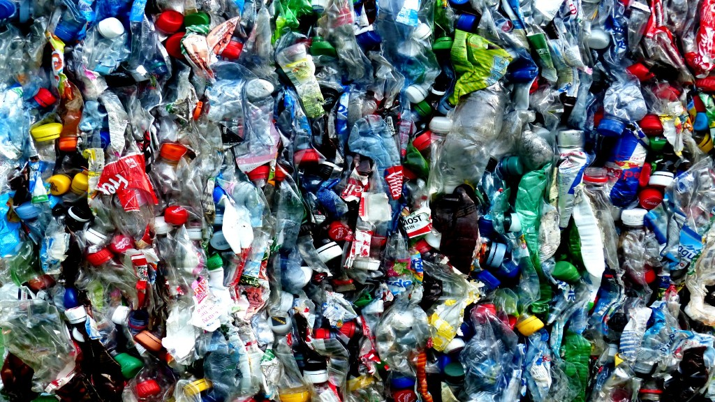 Squished plastic bottles