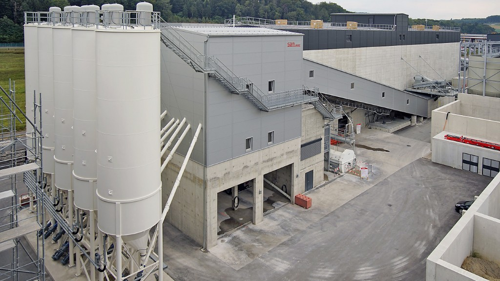 A new SBM concrete mixing plant in Switzerland