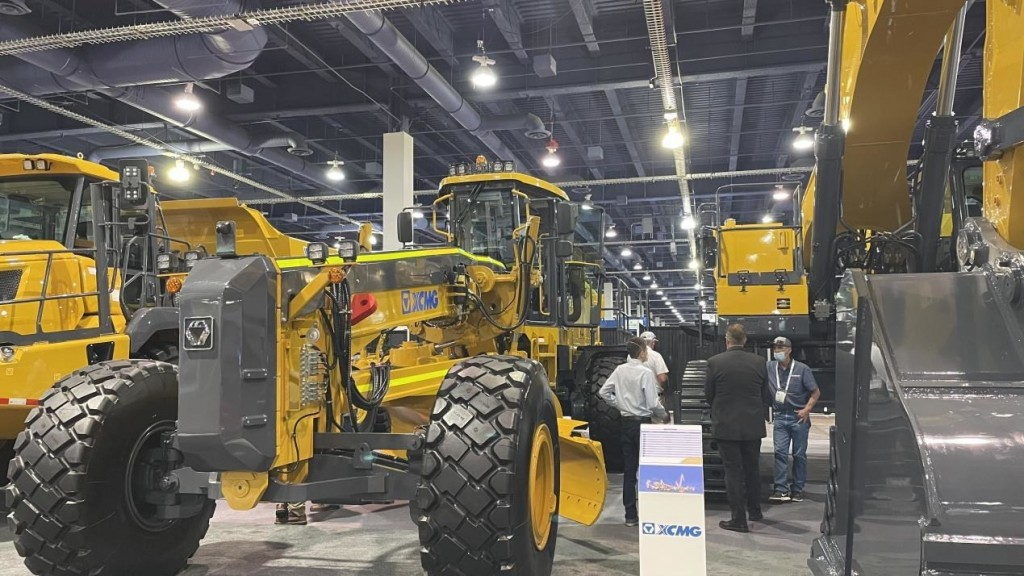 The XCMG MINExpo 2021 booth