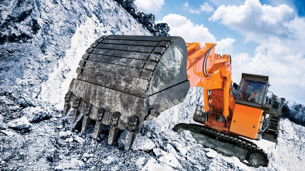A EX2000-7 mining excavator on the job site