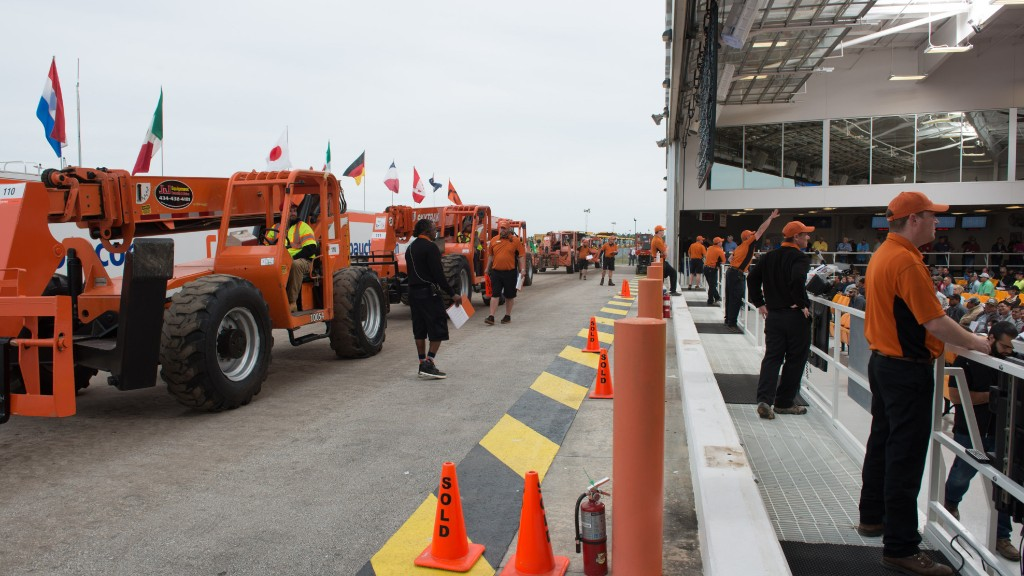 Telescopic handlers at auction