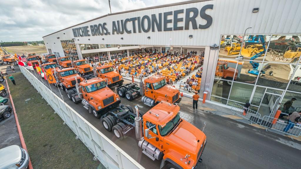 A Ritchie Bros auction underway