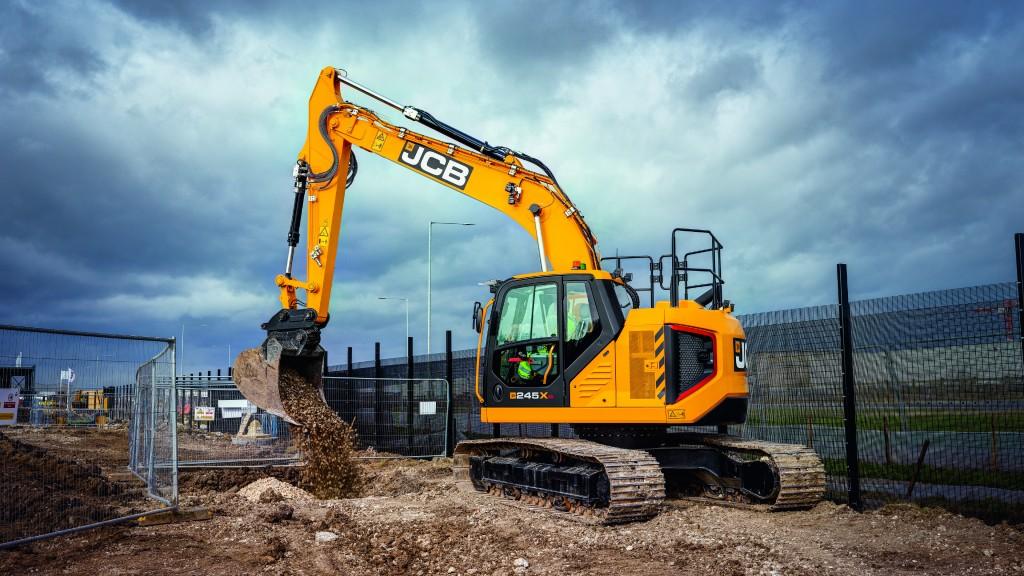 A JCB 245XR X-Series crawler excavator