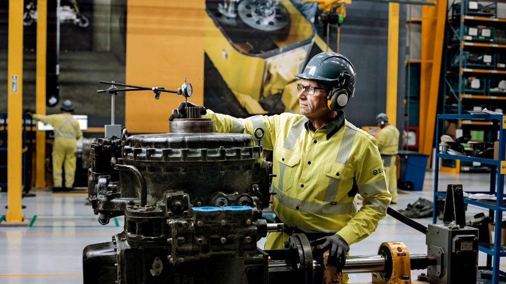 An Epiroc worker at the Reman Center