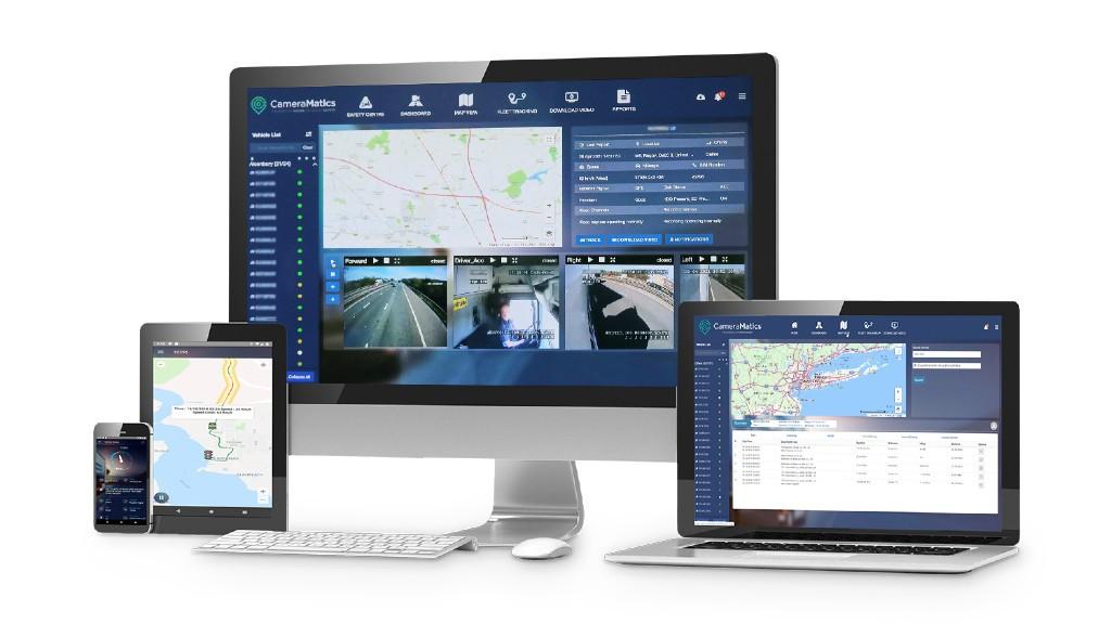The CameraMatics platform on multiple devices