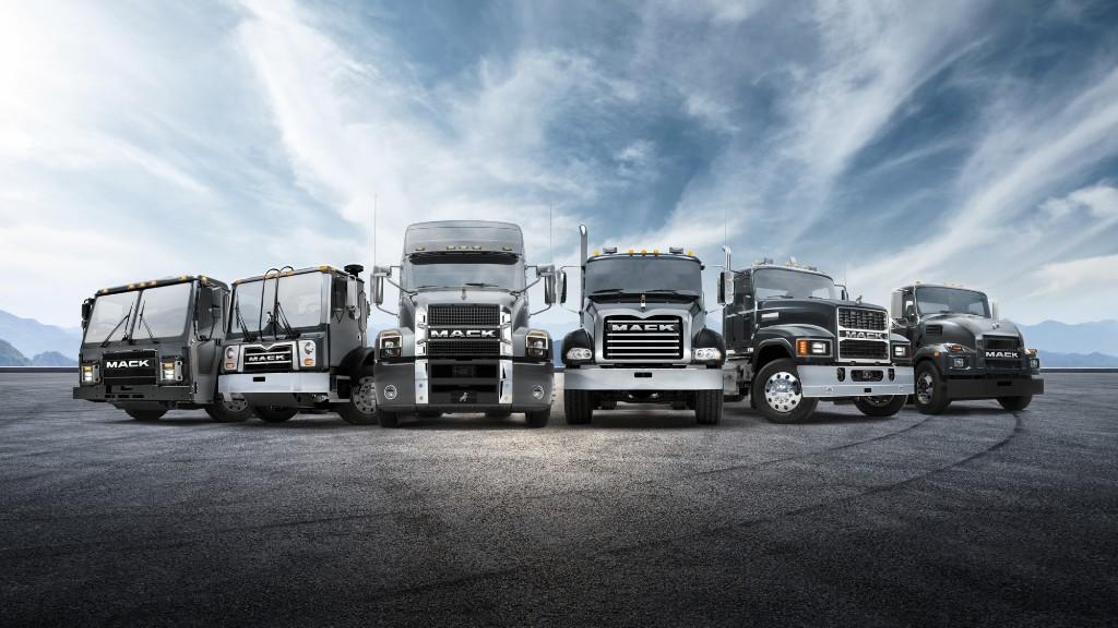 The Mack Trucks lineup