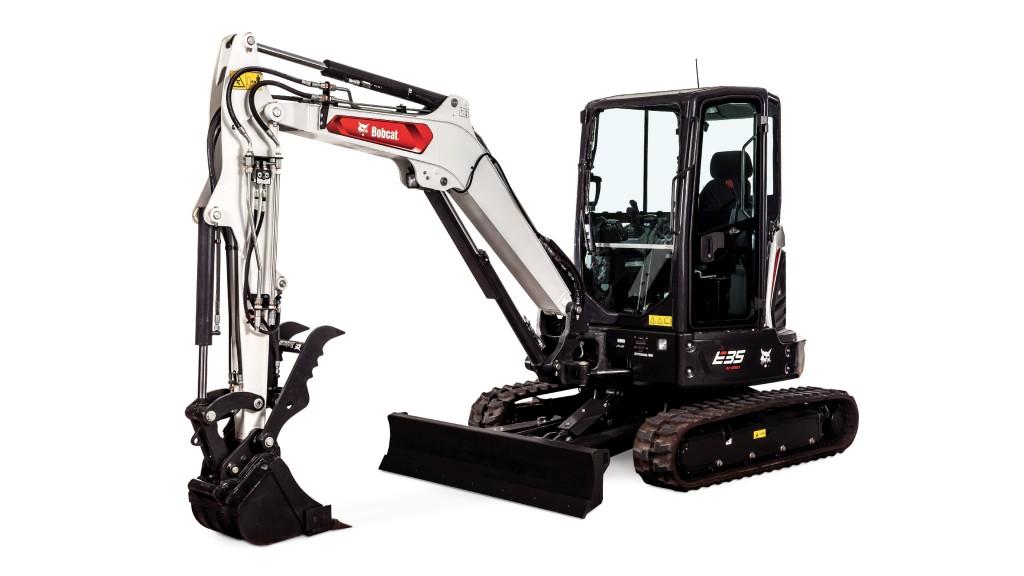 A new Bobcat mini excavator