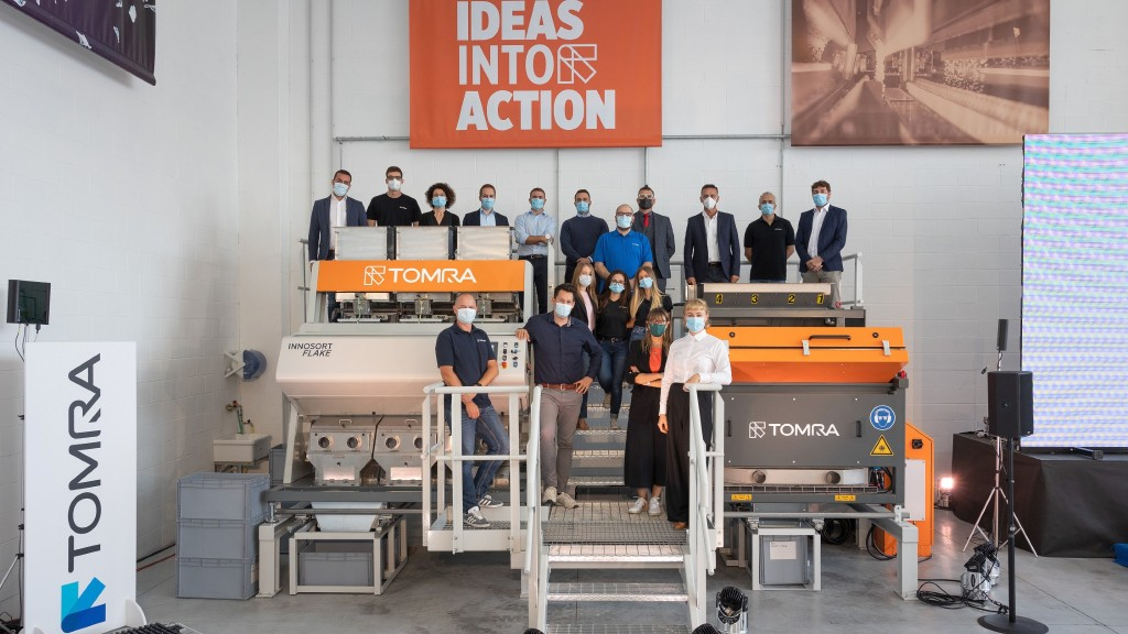 TOMRA opens new flake sorting test centre for polyolefins and PET plastics