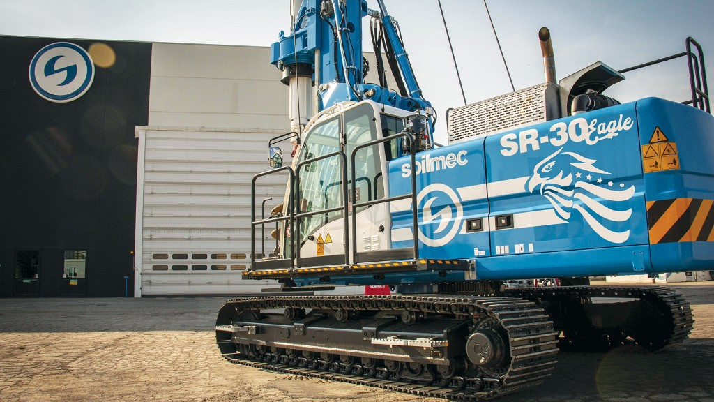Blue Soilmec drill rig