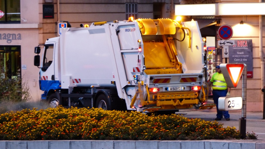 Collection truck on route