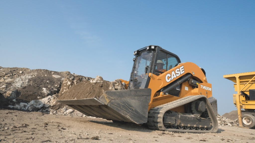 A compact track loader on the job site