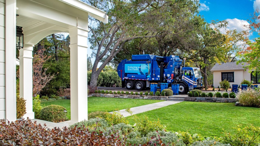 A Republic Services truck collects curbside waste