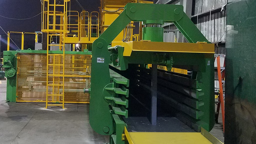 MacPresse baler in recycling facility