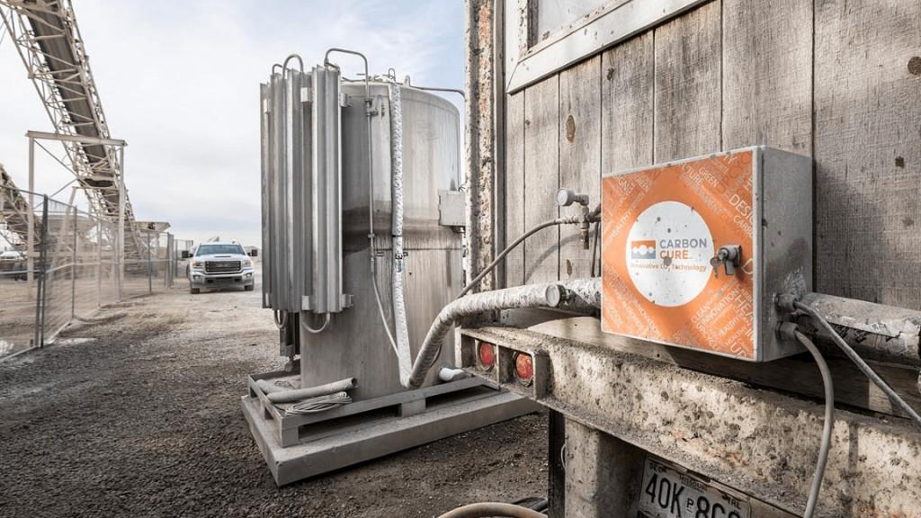 A CarbonCure tank valve box