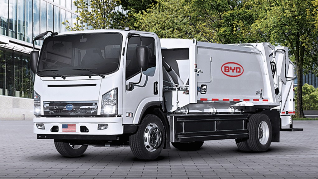 BYD electric powered collection truck
