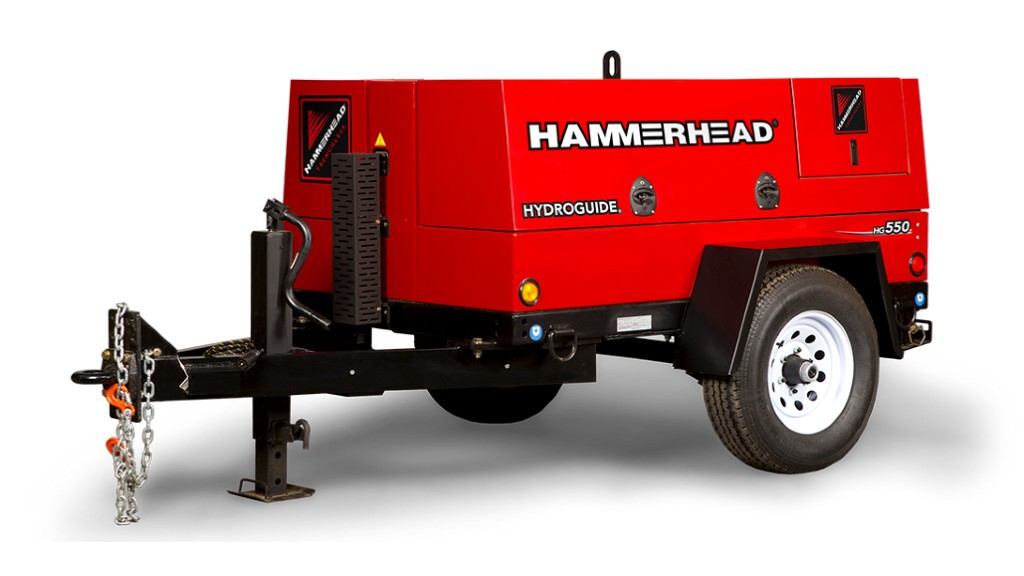 The HammerHead Trenchless HydroGuide HG550 high-performance cable winch