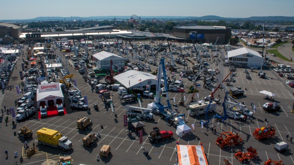 2021's Utility Expo aerial shot of Lot E