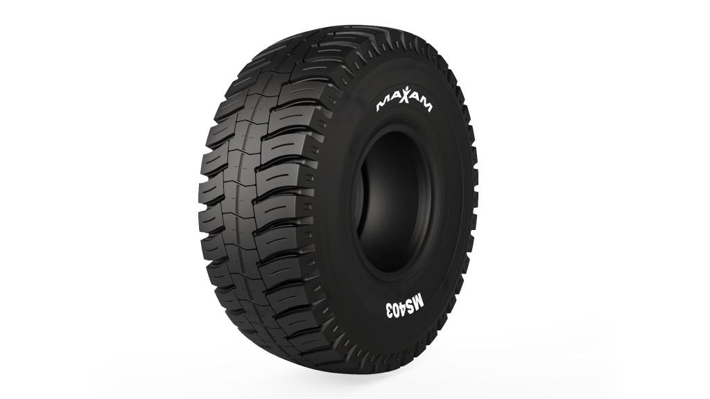 A MAXAM open pit mining tire