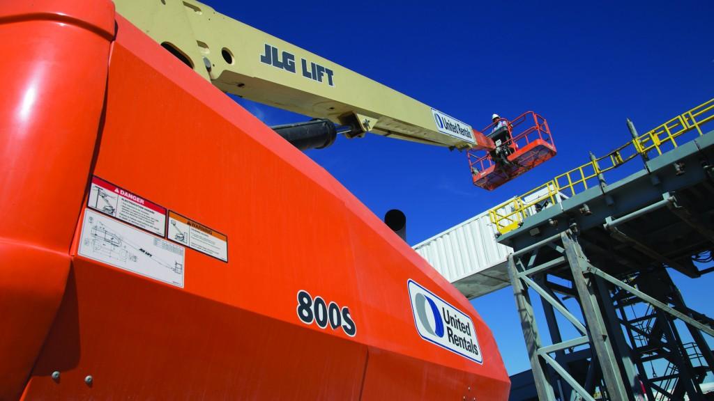 A United Rentals machine on the job site