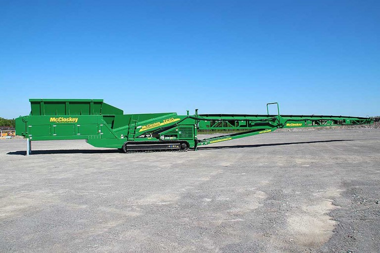 McCloskey International - TF80 Tracked Stackers