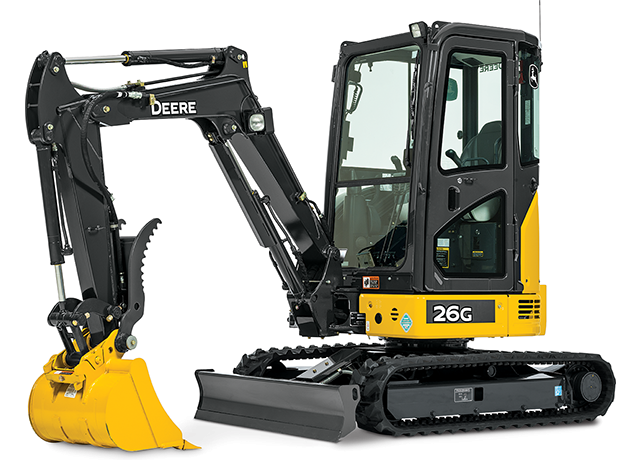 John Deere Construction & Forestry - 26G Compact Excavators