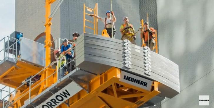 Watch this: first Liebherr 710 HC-L luffing crane erected on