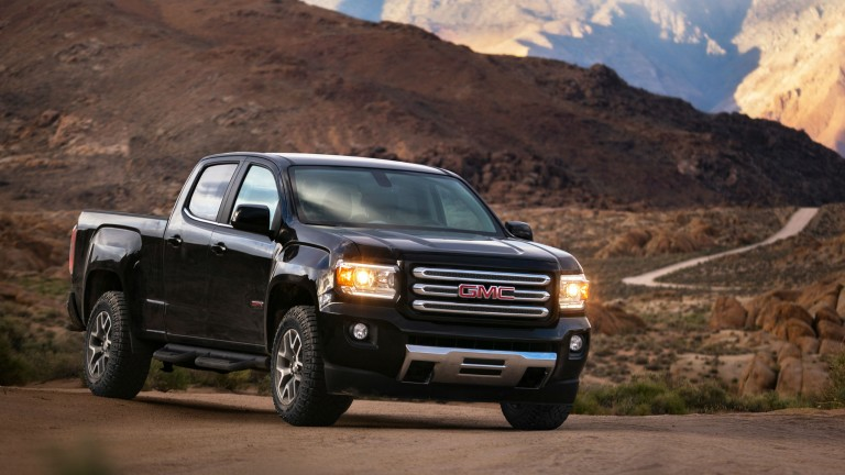 GMC Canyon Denali and All Terrain X feature new propulsion system offered across the 2017 Canyon ...
