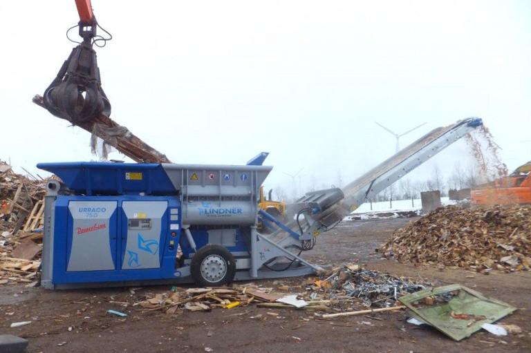 Lindner Recyclingtech America - URRACO 75 Shredders