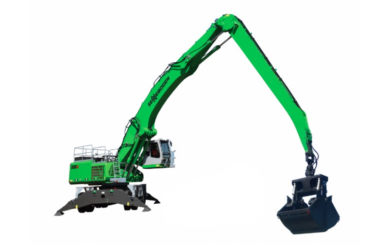 Green Hybrid 855 M E-Series Material Handlers