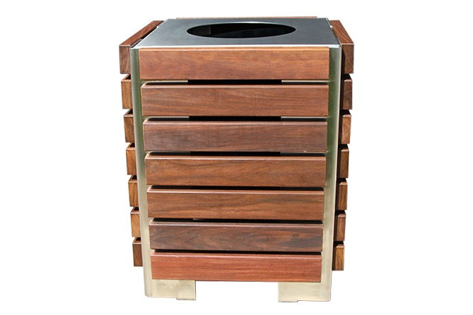 Paris Site Furnishings and Outdoor Fitness - Inox Recycling Carts & Containers