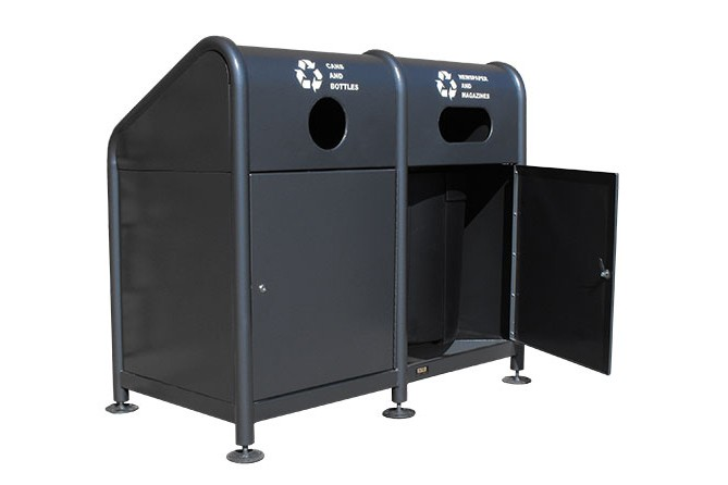 Paris Site Furnishings and Outdoor Fitness - RC Series Recycling Carts & Containers
