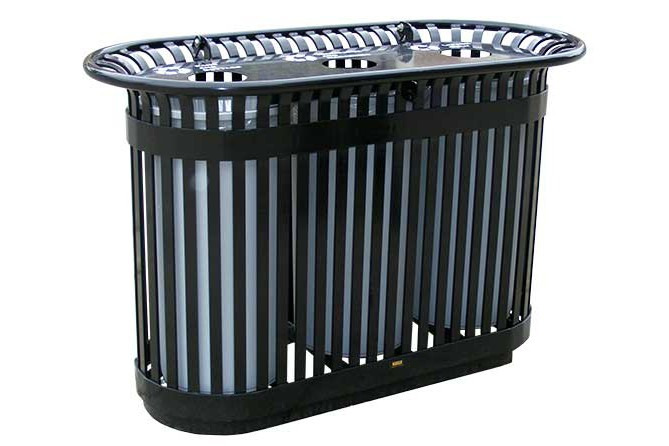 Paris Site Furnishings and Outdoor Fitness - Premier Recycling Recycling Carts & Containers