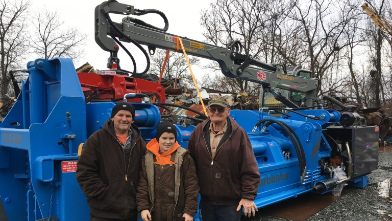 Gensco delivers latest scrap metal portable logger/baler to Groff Recycling
