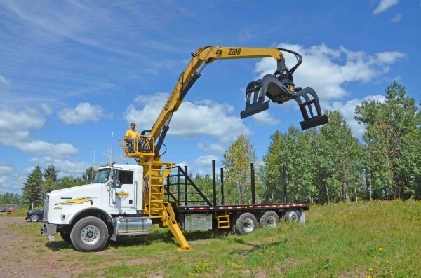 Model 2200-TM Truck Mounted Loader for use in pipeline and electrical transmission line construction and general construction