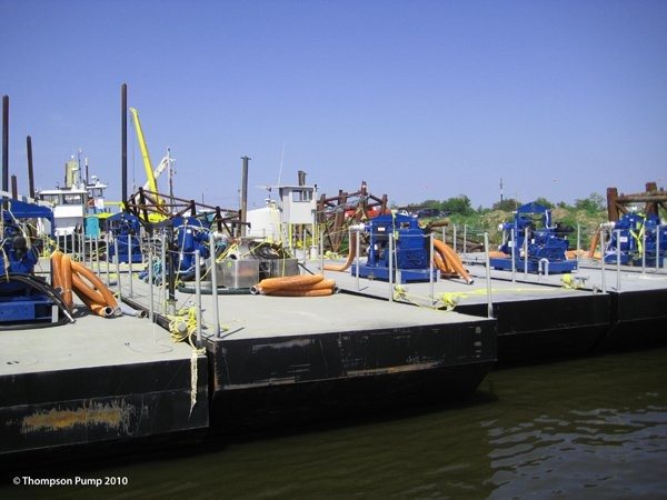 Thompson Pumps equipment works to clean up the Gulf oil spill.