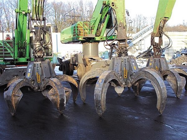 Kinshofer's grapple line, along with shears, processors and pulverizers are now available from