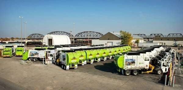 At Emterra Environmental's Winnipeg operations, a CNG fuelling station was installed to support 60 Heil Rapid Rail side loaders and PT 1000 rear loaders.