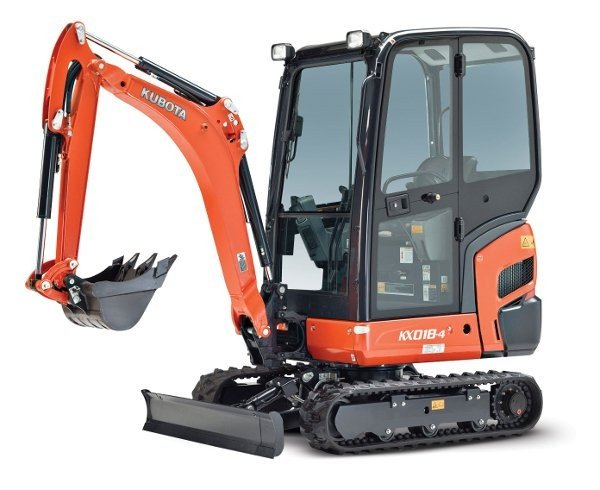 Kubota's latest compact excavator features company's first factory cab on a 1.8 ton machine