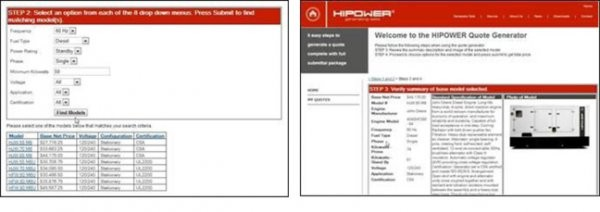 HIPOWER SYSTEMS debuts online generator quoting system; makes it easy for distributors to match customers' needs