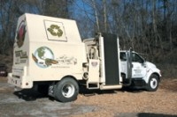 Mobile grinders built onto truck chassis