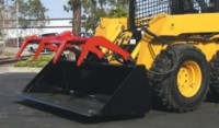 Heavy-duty digging bucket designed with grapple   attachment
