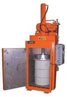 Drum crusher / in-drum compactor is explosion-proof