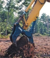 Stump shear in mechanical and hydraulic configurations