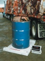 Portable drum scale for onsite scrap weighments