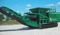 Crawler-mounted shredder